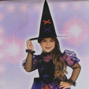 Girls (3-4 years) Pretty Witch Halloween dress+hat